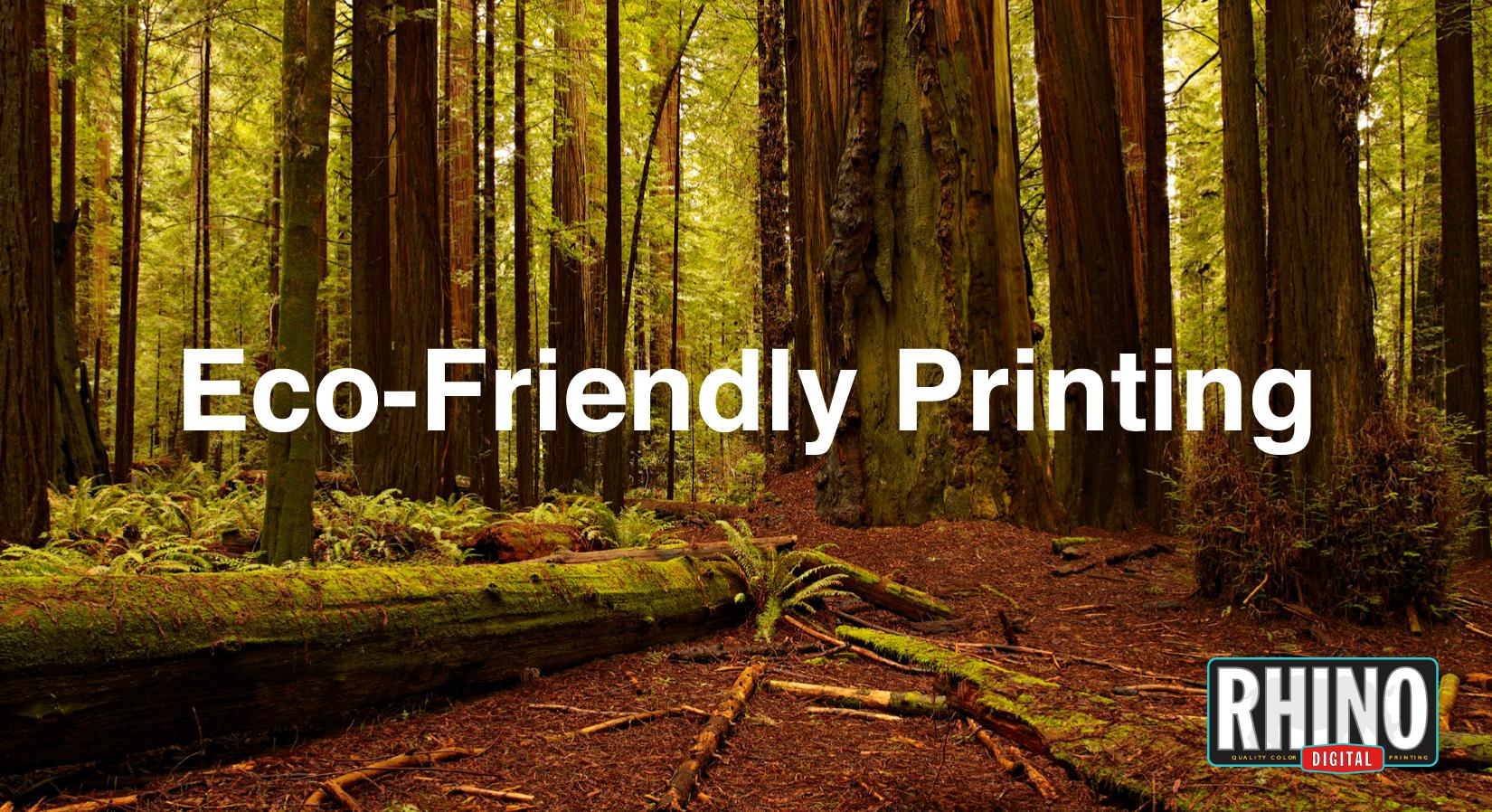 Environment friendly printing