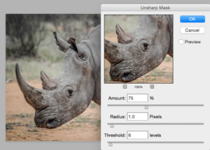 Unsharp masking in photoshop