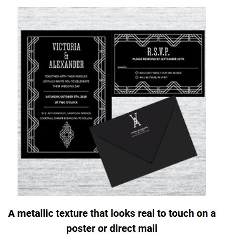 Metallic Ink Printing at Rhino Digital Printing